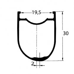 DUKE Wheelset Baccara 35C / Acros nineteen RD SP