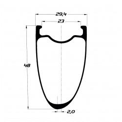 Kit TUNE 15mm front axle + caps