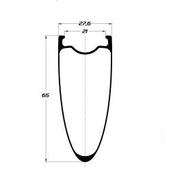 Front road tubular wheel with ACROS nineteen RD hub