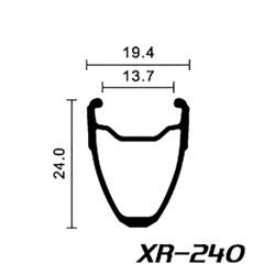 Rear road clincher wheel with ACROS nineteen RD SP hub