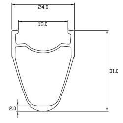 Rear road tubular wheel with DT350 hub