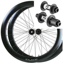 Rear road tubular wheel with DT240s hub