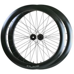 Rear road tubular wheel with TUNE hub