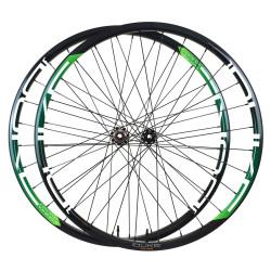 Front disc road tubular wheel with ACROS nineteen RD disc hub