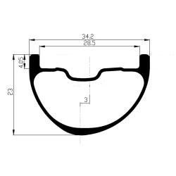 Paire de roues VAE Notubes ZTR Flow MK3 / Hope Pro4