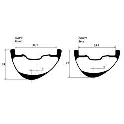 Rear disc road tubular wheel with Novatec hub