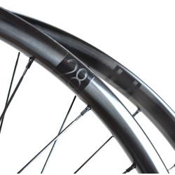Rear road tubular wheel with Powertap G3 hub